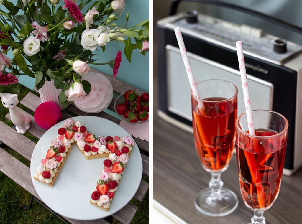 Rosé og M kage til mors dag