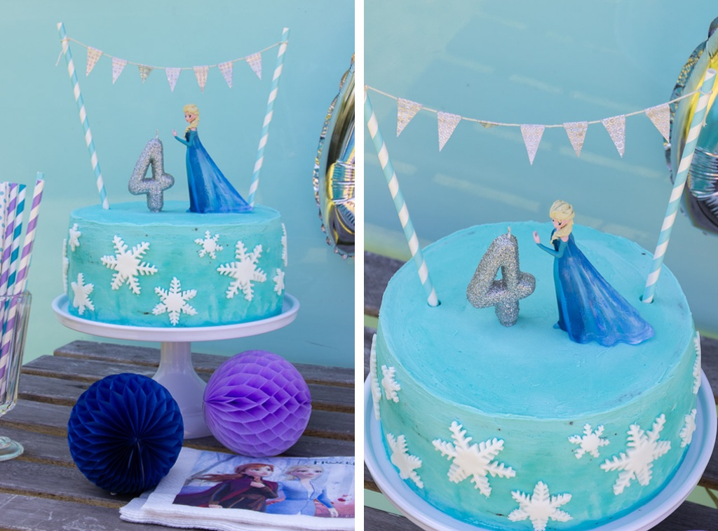 Frost kage med Elsa figur