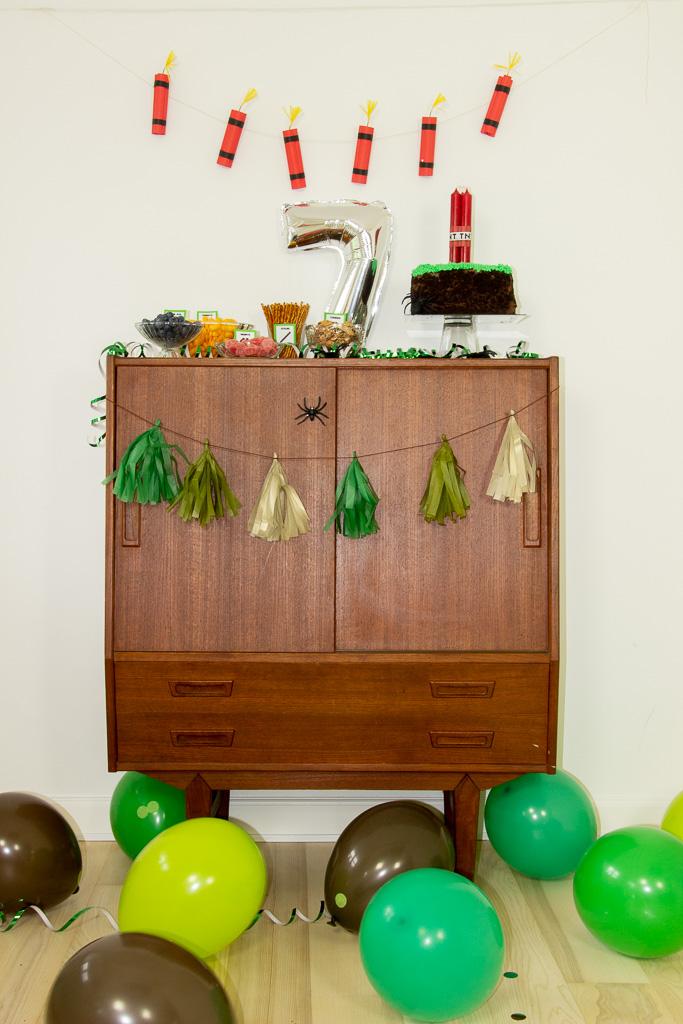 Minecraft fødselsdagspynt