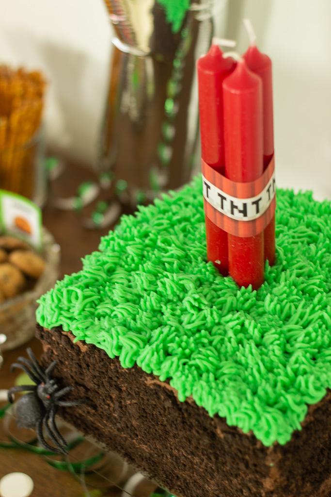 Minecraft kage til 7 års fødselsdag